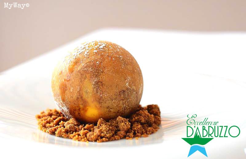 Bollamisù (sfera di zuchero al sapore di tiramisù)
